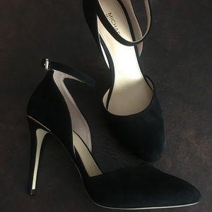 MK Michael Kors Georgia blk suede ankle strap 7